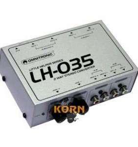 Omnitronic LH-035 2 rása RCA-XLR breytir