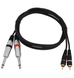 Omnitronic 2x mónó-jack í 2x RCA-M 1,5m