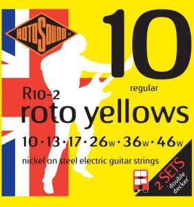 Rotosound Roto Yellows 10-46/ 2 sett pk